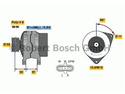 LATURI BOSCH 28V 90A