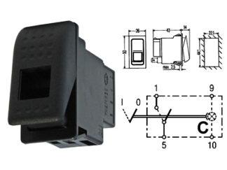 Keinukytkin standard 22x44