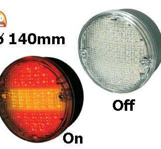 LED-takavalot, pyöreä