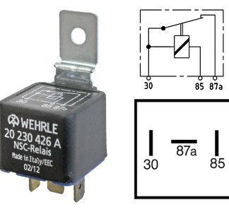 Kytkentärele 12V 3-nap